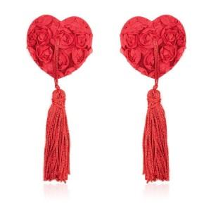 copricapezzoli rossi a forma di cuore