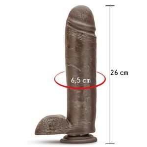 dildo maxi nero dr skin 10,5 plus