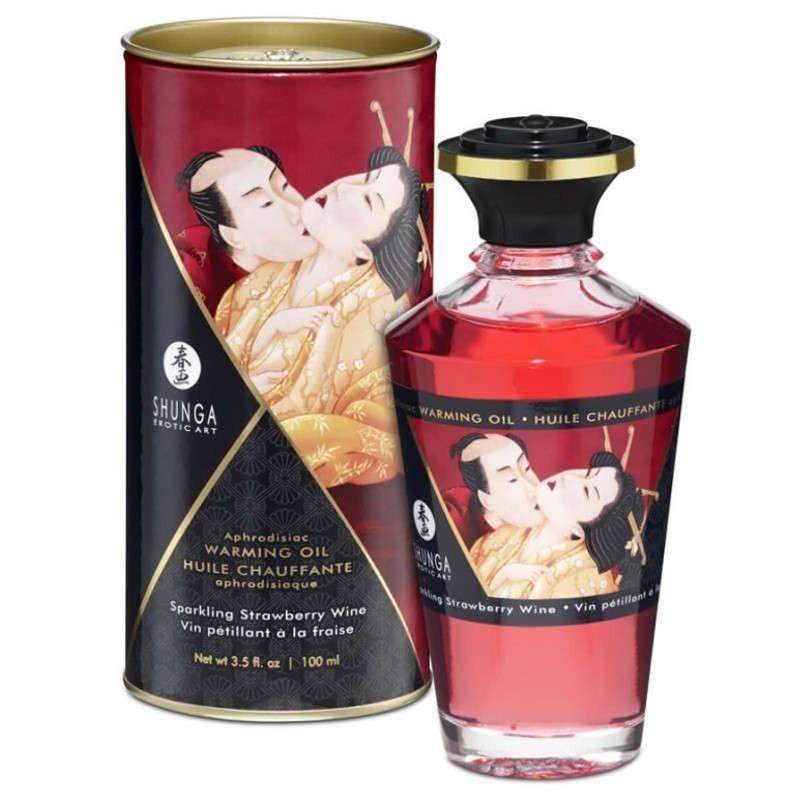 olio per massaggio riscaldante fragola