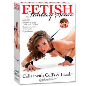 costrittivo collare con manette fetish fantasy