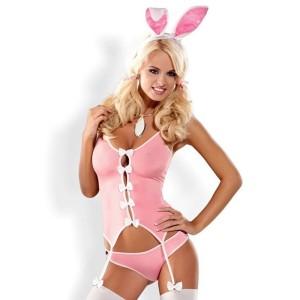 costume coniglietta sexy rosa obsessive lingerie