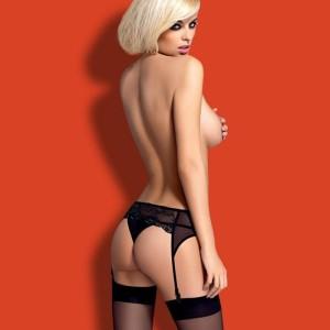 obsessive lingerie reggicalze nero charm