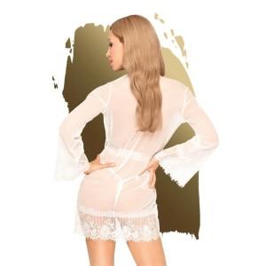 vestaglia trasparente bianca