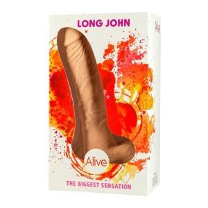 dildo realistico con ventosa long john